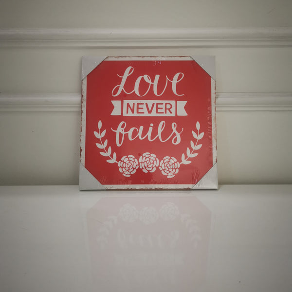 """Love never fails"" Canvas Print"