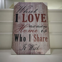 """What i love most"" Canvas Print"
