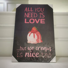 "Load image into Gallery viewer, ""All you need is love"" Canvas Print"