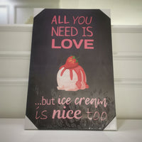 """All you need is love"" Canvas Print"