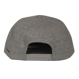SALAM JAWI Grey Wool Snapback (back)