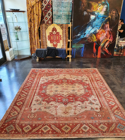 Vintage Turkish Serapi Rug Buy Handmade