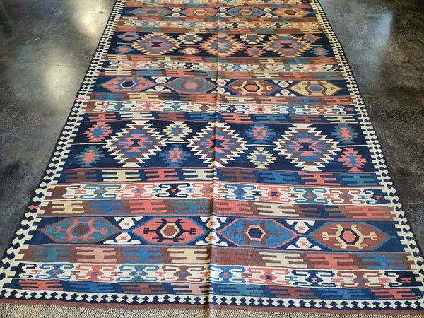 jewel tone kilim carpet