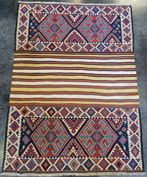 Colorful Nani Kilim Shahsavan rug home decor