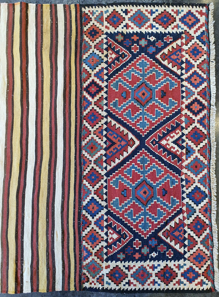Jewel colored Antique Nani Kilim Shahsavan