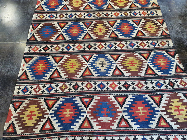 geometric kilim carpet for sale