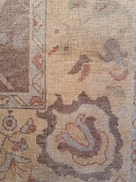 turkish oushak knots per inch rug