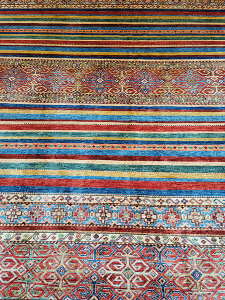 afghan khorjin area rug colorful