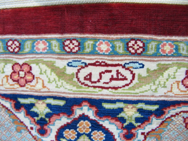 signed turkish hereke handmade
