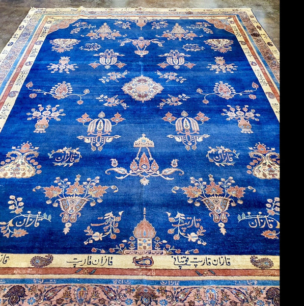 persian blue kerman area rug habib rugstar