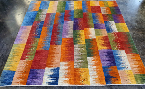 colorful patchwork persian rug