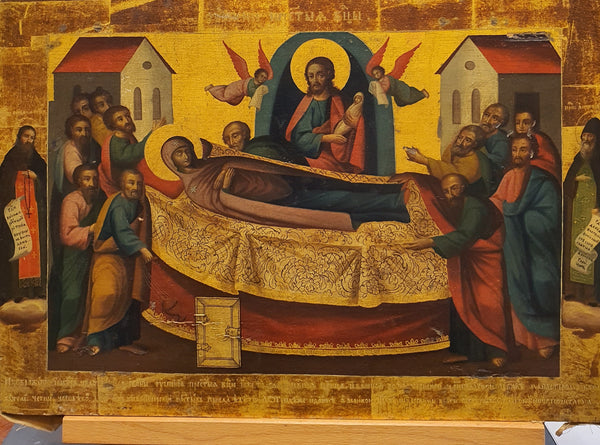 Russian Icon: The Feast of the Dormition