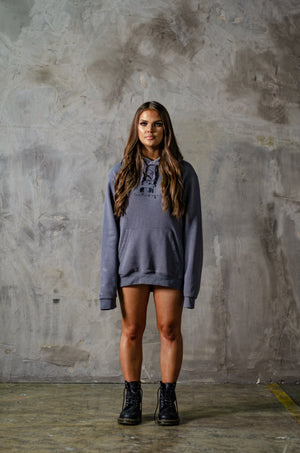 Glam Hoody in Charcoal