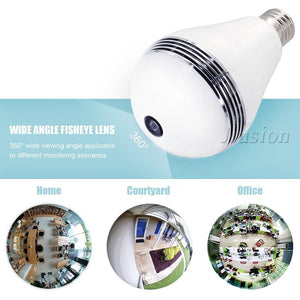 IP WIFI Mini Camera 360 Light Bulb IR Night Vision Live Security Surveillance Cam CCTV Secret 1.3MP Smart for iPhone Android