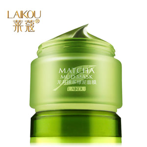 Face Care Laikou Matcha Mud Mask Whitening Oil Control Moisturizing Acne Treatment Deep Cleaning Shrink Pores Beauty Skin Care