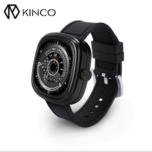 KINCO Heart Rate Sleep Monitor Smart Bracelet Wristband Call Remote Camera Smart Watch Phone for IOS Android