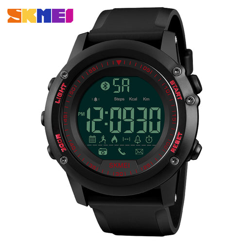 SKMEI Smart Watch Top Luxury Fashion Digital Men's Watches Waterproof Pedometer Calorie Remote Camera Bluetooth Sports Watches