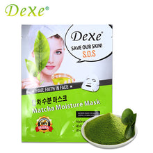 1pcs Dexe Matcha Moisture Mask 24 Hours Hydrating Brighten The Skin and Relieve Sensitivity