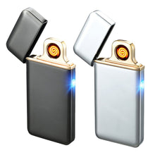 2017 Ultra-thin Fingerprint Touch Sensor Cigarette Lighter Rechargeable USB Charging Lighter Spare Electric Wire Flameless
