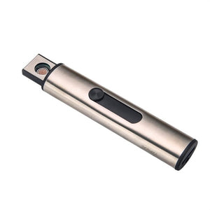 2018 Compact Size USB Rechargeable Smoke Cigar Lighters Cylindrical Shape Windproof Mini Electric Double Side Smoking Lighter