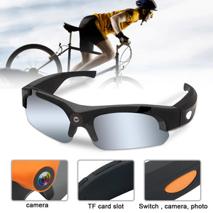 HD 1080P Video Camera Sunglasses 1600M Mini DVR Sport Video Bicycle Cycling Camcorders For Outdoor Sport Action Rcording