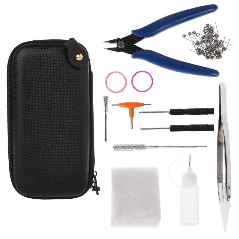 DIY Tool Bag Kit 3 Tweezer Plier Wire Heaters Coil Jig For Electronic Cigarette July1Drop Ship