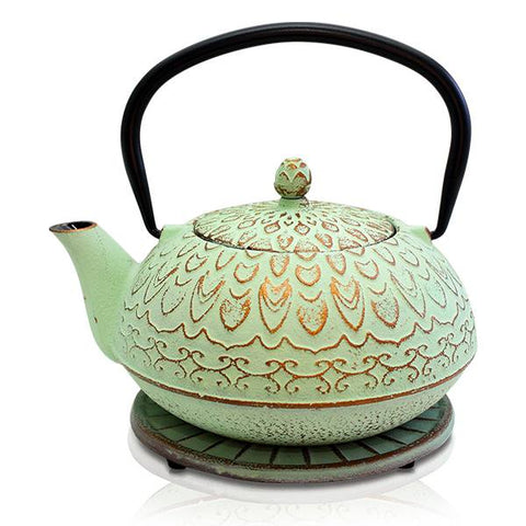 Moroccan Mint Cast Iron Teapot - 'NEW'