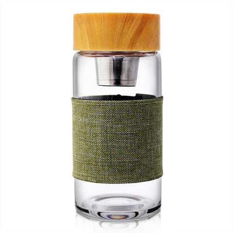 Ocha Glass Infuser Flask - Green or Grey Sleeve