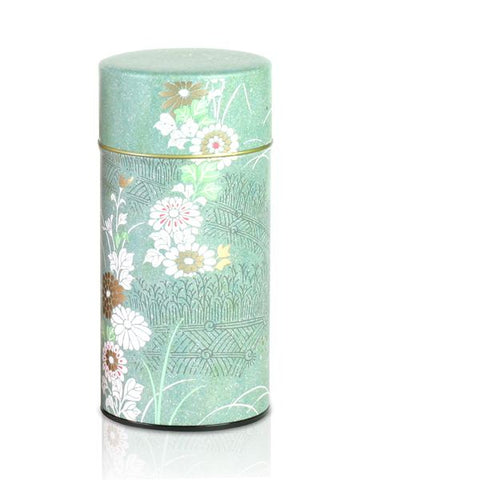 Saga Kiku Green/Pink Tea Cannister - 'NEW'