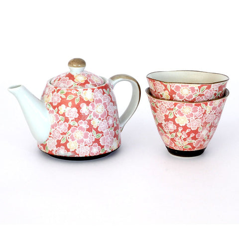 Sakura Yuzen Tea Set - 'NEW'