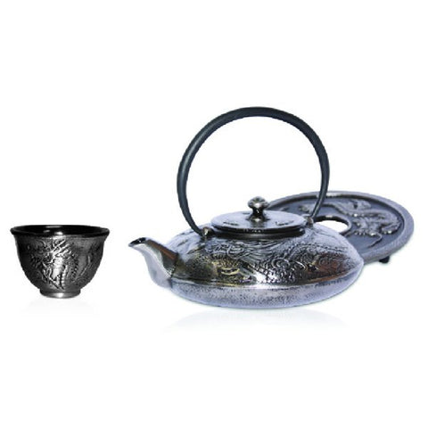 Silver Dragon Cast Iron Teaset - 'NEW'