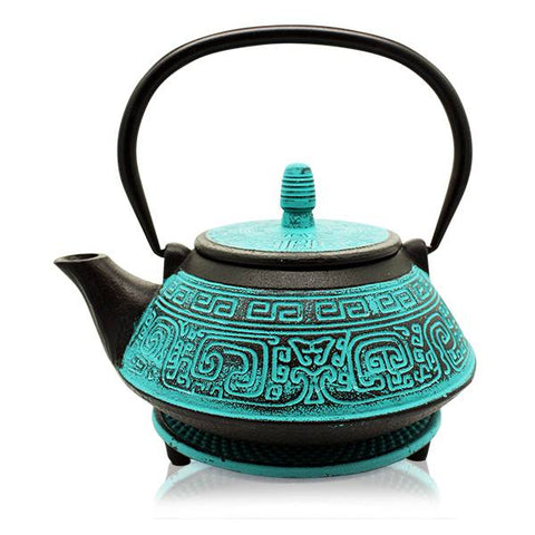 Turquoise Tianshui Cast Iron Teapot - 'NEW'