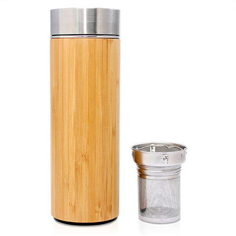 Bamboo Tea Infuser Bottle