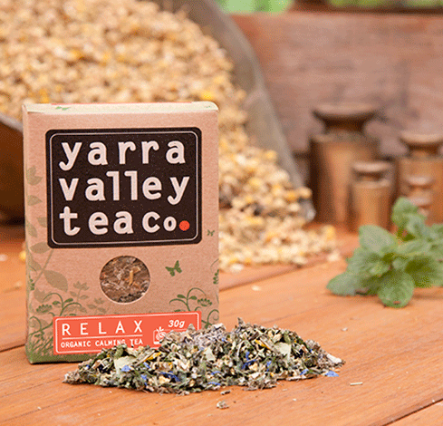 Relaxing tea from the Yarra Valley