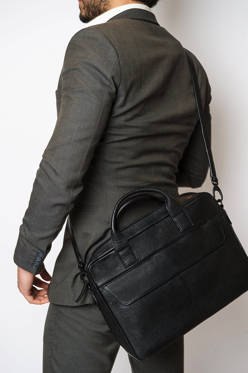 Leader Messenger Bag Onyx - Personalised