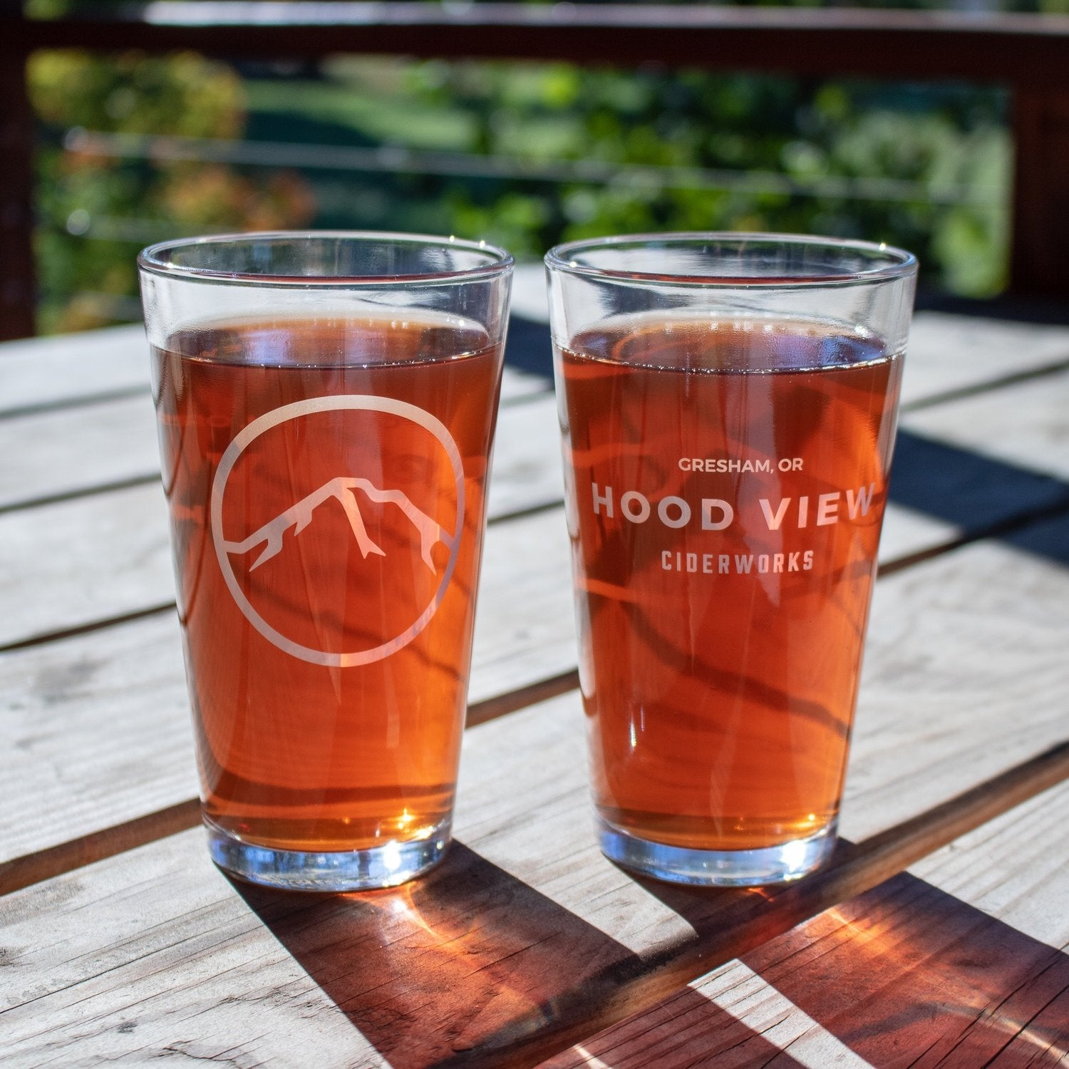 Hood View Pint Glass