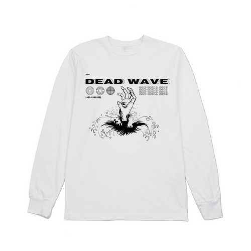 WHITE DEADWAVE LONG SLEEVE
