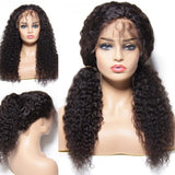 Virgin Indian Deep Wave Lace Front Wig With Baby Hair