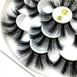 25mm 3D Full Mink False Long Eyelash Extensions 7pairs