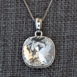 """Intuition"" Clear Swarovski Crystal Pendant (with Chain) - Révélations Boutique"