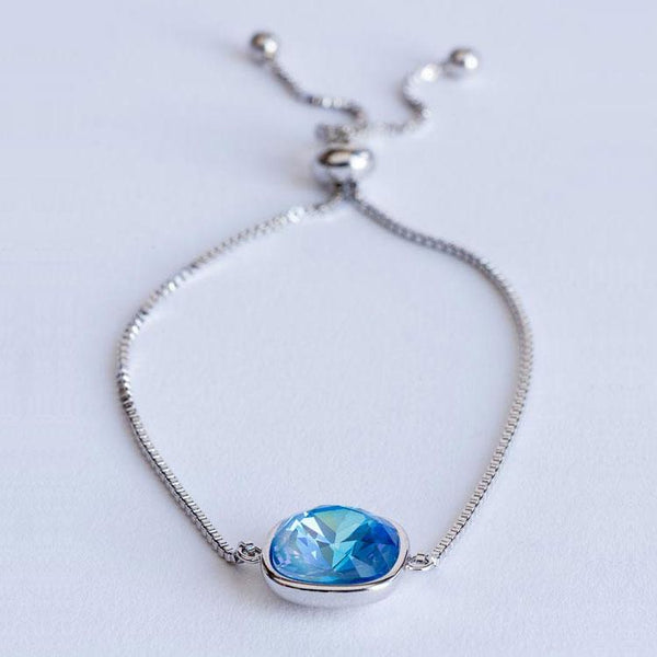 """Oceana Dreams"" Blue Swarovski Crystal Bracelet - Révélations Boutique"