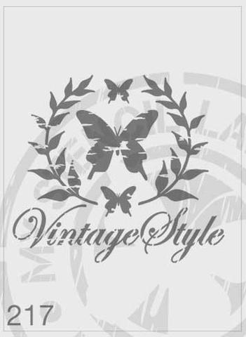 Butterfly Vintage Style Wreath