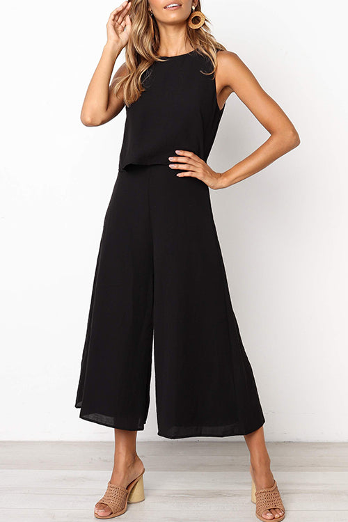 Dresslim Simple Loose Jumpsuit