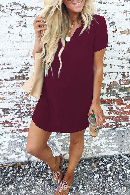 Dresslim Casual Shirt Mini Dress