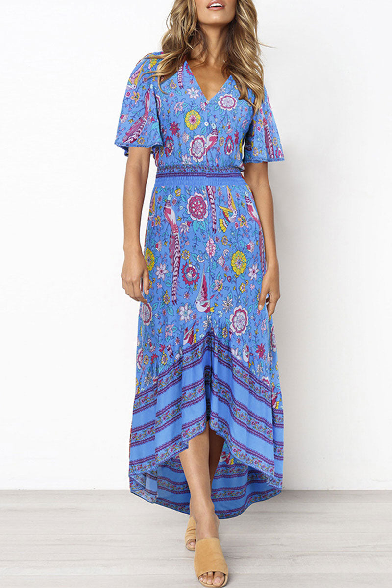 Dresslim Floral Print A Line Dress(3 Colors)