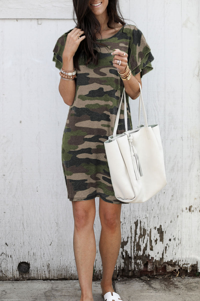 Dresslim Camouflage Printed  Dress (3 Colors)