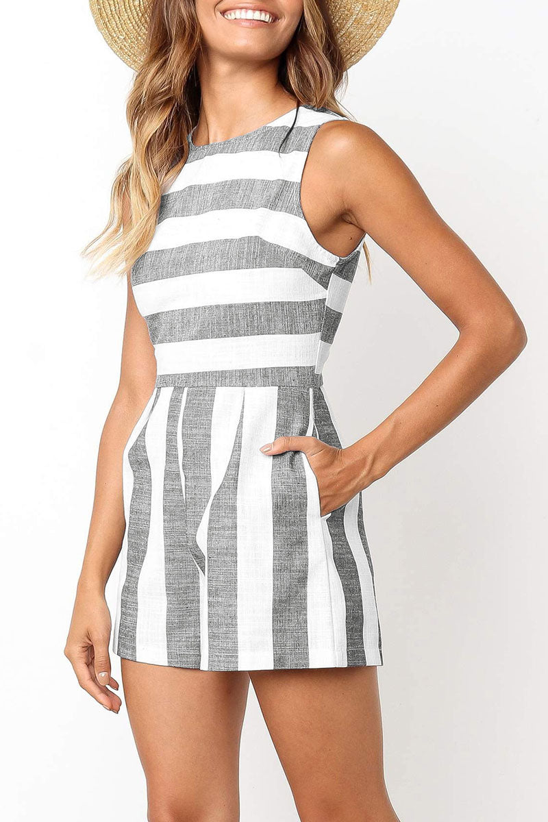 Dresslim Casual Striped Rompers (4 Colors)