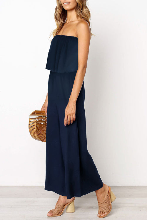 Dresslim Off The Shoulder One-piece Jumpsuit(Nonelastic)