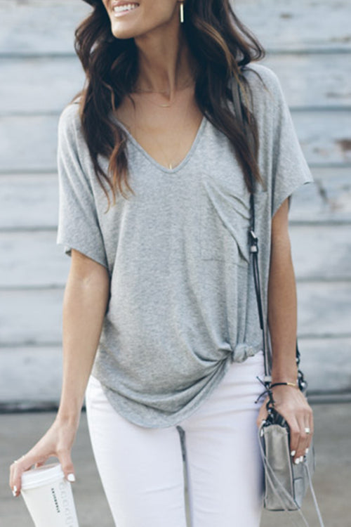 Dresslim V Neck Grey T-shirt