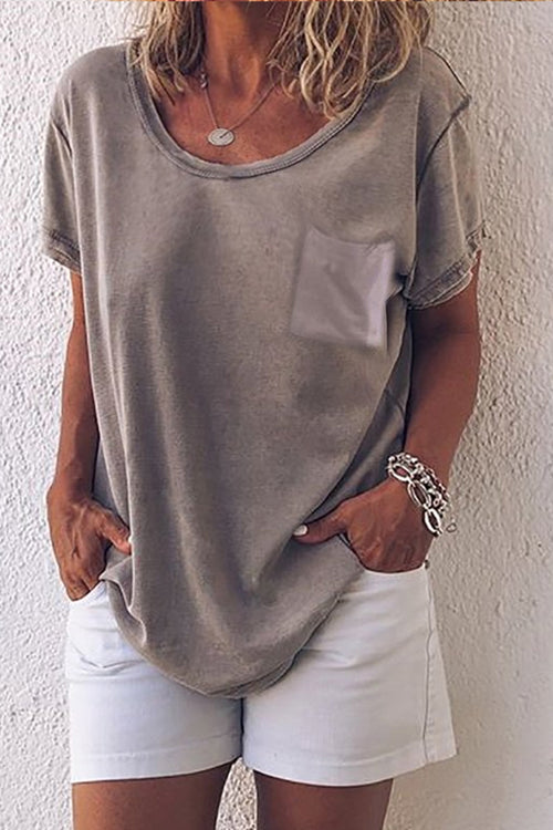 Dresslim Pocket Light Grey T-shirt